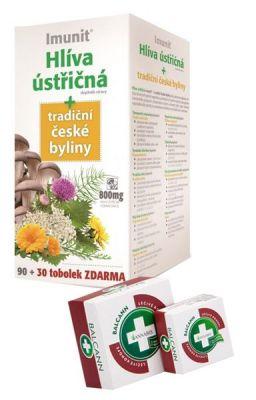 Imunit Hlíva ústřičná 800 mg tradiční české byliny 90+30 + balcann 15 ml