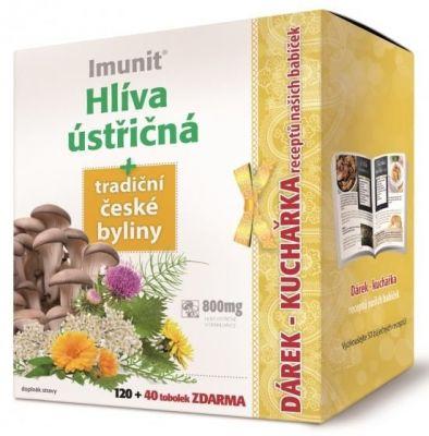 Imunit Hlíva ústřičná 800 mg tradiční české byliny 120+40