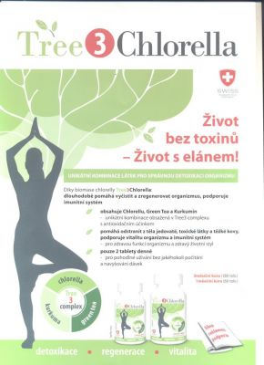 Simply you Tree3Chlorella 180 tablet - chlorella Simply You Pharmaceuticals a.s.