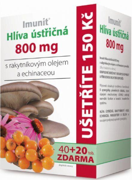 Imunit Hlíva ústřičná 800 mg s rakytníkovým olejem a Echinaceou 40tob.+ 20tob. ZDARMA Simply You Pharmaceuticals a.s.