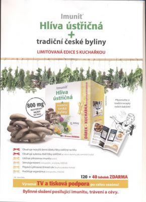 Akce Imunit Hlíva ústřičná 800 mg tradiční české byliny 120 tob. + 40 tob. ZDARMA + Kuchařka receptů našich babiček jako dárek exp. 5/2017 Simply You Pharmaceuticals a.s.