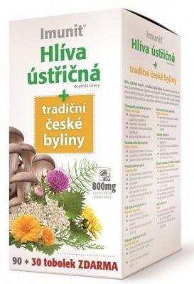 Imunit Hlíva ústřičná 800 mg tradiční české byliny 90+30 exp.4/17